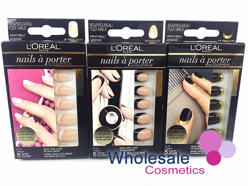27 x L'Oreal Nails A Porter False Nails - ASSORTED