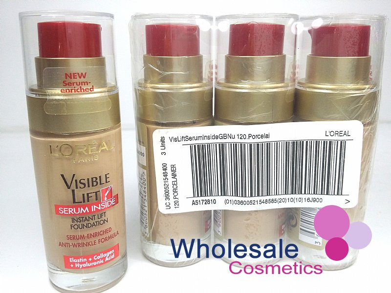 18 x L'Oreal Visible Lift Serum Inside Pump Foundation - 120 Rosy Porcelain