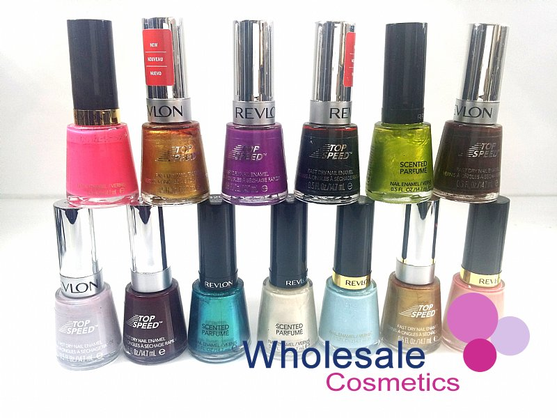 30 x Revlon Top Speed & Scented Perfume Nail Polish - ASSORTED