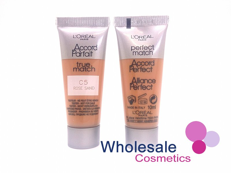36 x L'Oreal True Match C5 Rose Sand Foundation - 10ml Tester