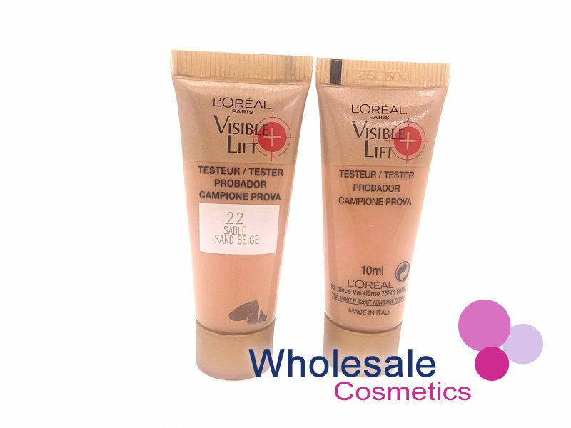 36 x L'Oreal Visible Lift 22 Sand Beige Foundation - 10ml Tester