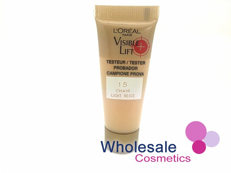 36 x L'Oreal Visible Lift 15 Light Beige Foundation - 10ml Tester