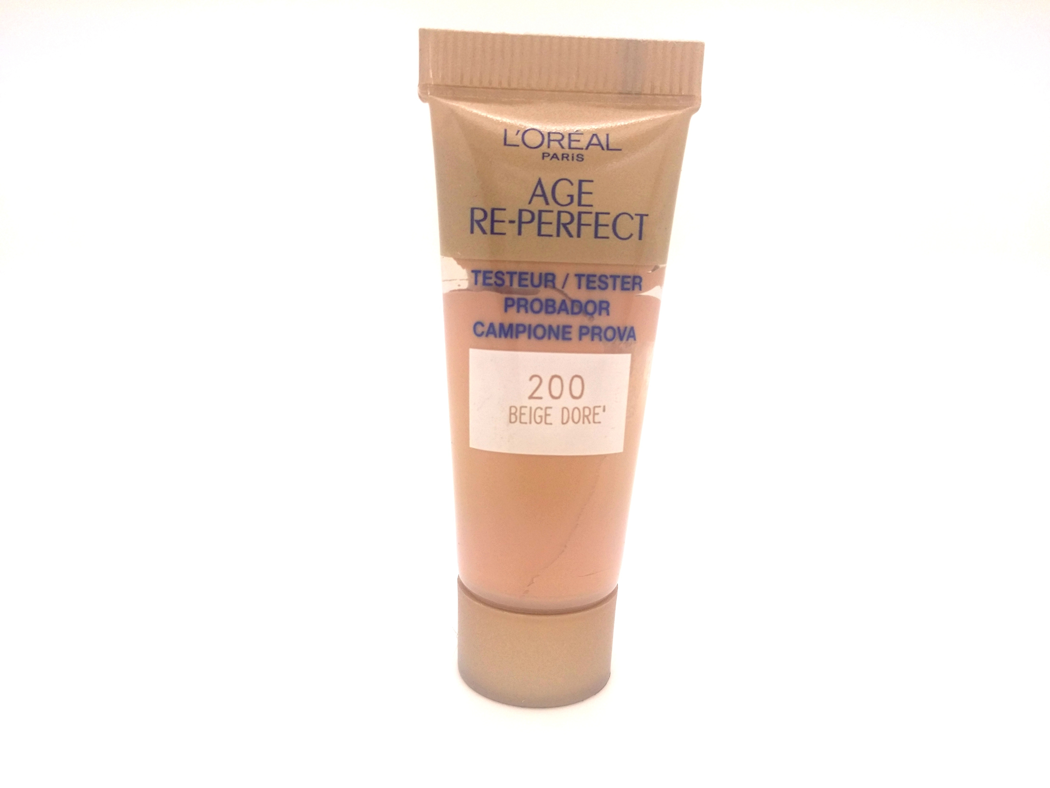 36 x L'Oreal Age Re-Perfect Foundation 200 Beige Dore - 10ml Tester