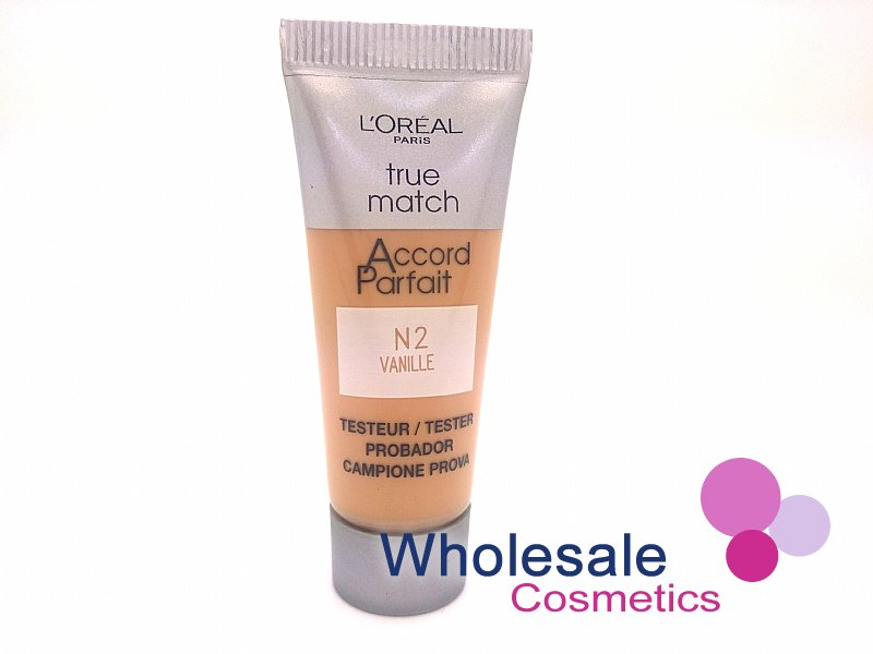 36 x L'Oreal True Match N2 Vanilla Foundation - 10ml Tester