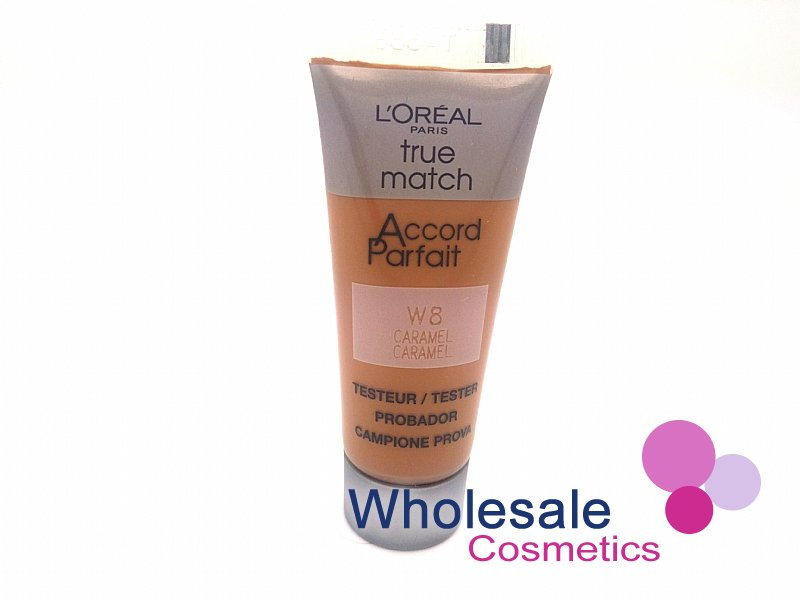 36 x L'Oreal True Match W8 Caramel Foundation - 10ml Tester