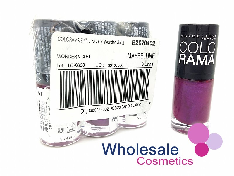 24 x Maybelline Colorshow Nail Polish - 67 WONDER VIOLET