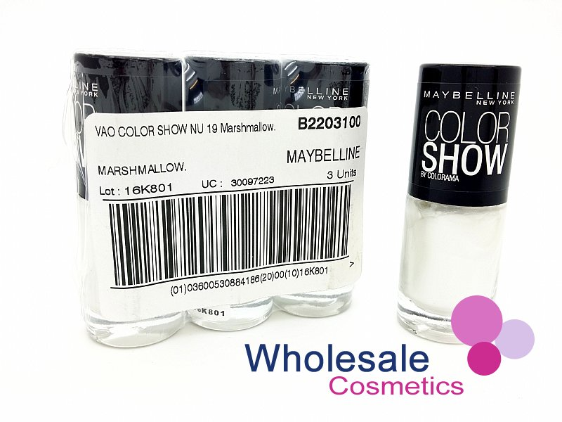 24 x Maybelline Colorshow Nail Polish - 19 MARSHMALLOW