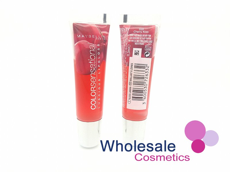24 x Maybelline Color Sensational Luscious Lip Gloss - 520 Cherry Kiss