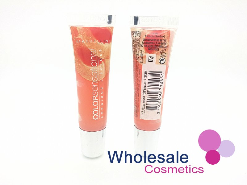 24 x Maybelline Color Sensational Luscious Lip Gloss - 410 Peach Sorbet
