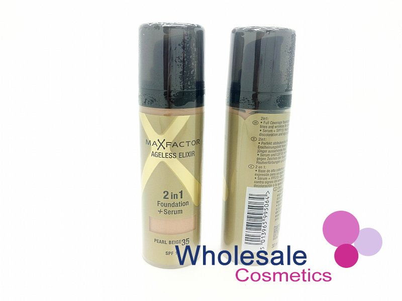 12 x Max Factor Ageless Elixir 2In1 Foundation - 35 Pearl Beige