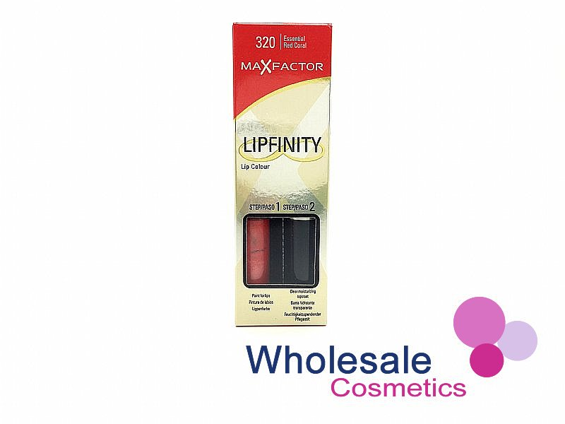 12 x Max Factor LipFinity Lip Colour - 320 Essential Red Coral