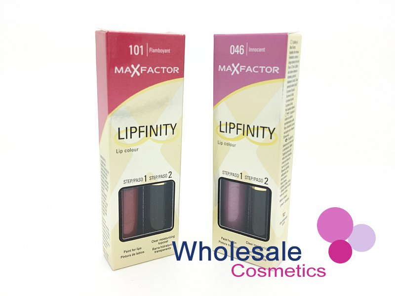24 x Max Factor LipFinity Lip Colour - ASSORTED