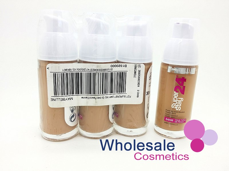 54 x Maybelline 24HR SuperStay Foundation - Fawn (Full Case)