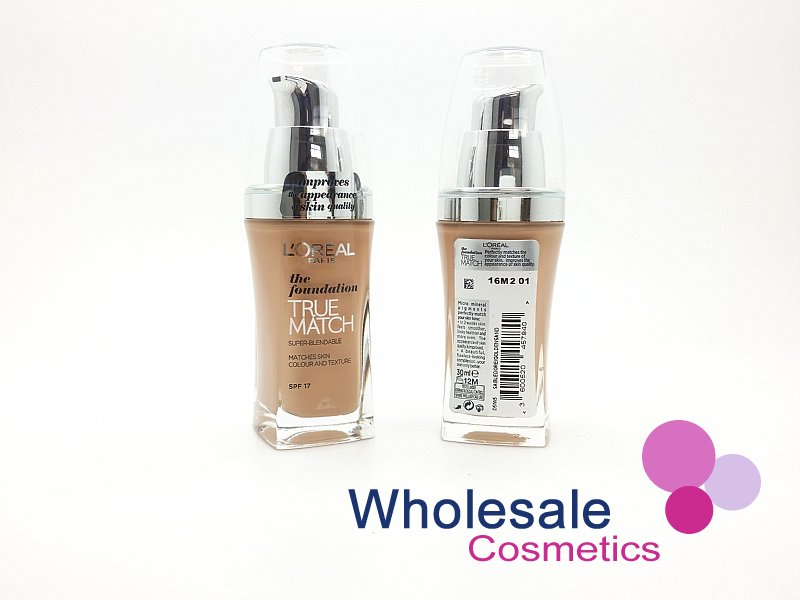 15 x L'Oreal True Match Foundation SPF17 (30 ml) - W5 Golden Sand