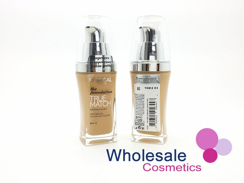 15 x L'Oreal True Match Foundation SPF17 (30 ml) - W4 Golden Natural