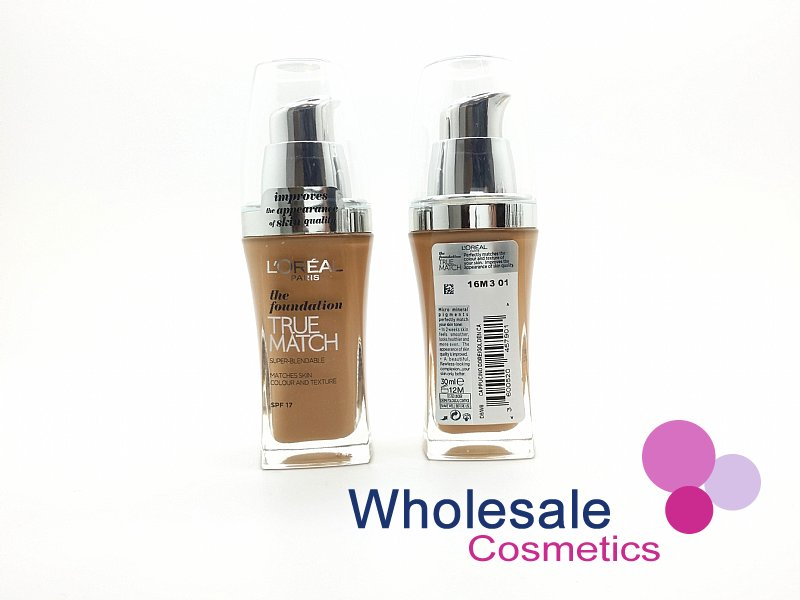 15 x L'Oreal True Match Foundation SPF17 (30 ml) - W8 Golden Cappucino