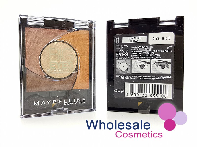 24 x Maybelline Big Eyes Eyeshadow - 01 Luminous Brown