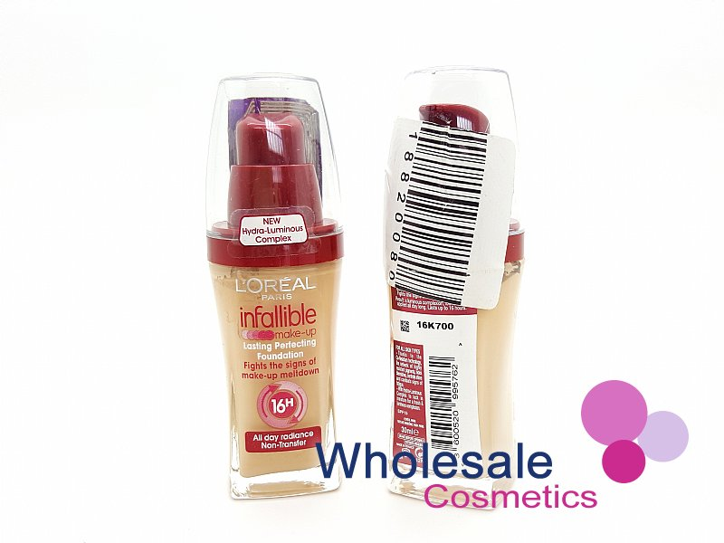 15 x L'Oreal Infallible Foundation 30ml - 125 Natural Rose