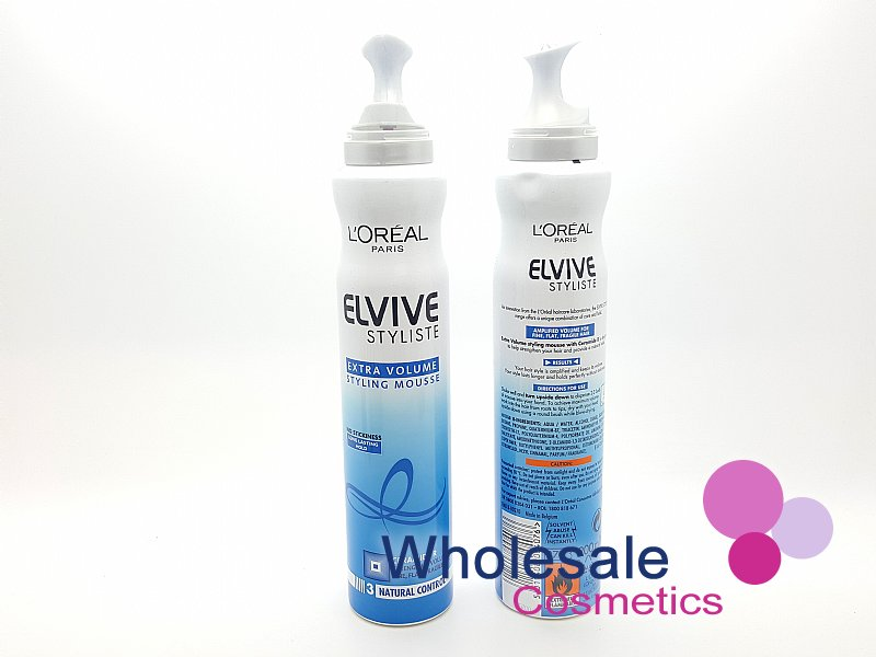 6 x L'Oreal Elvive Stylliste Extra Volume Styling Mousse 200ml