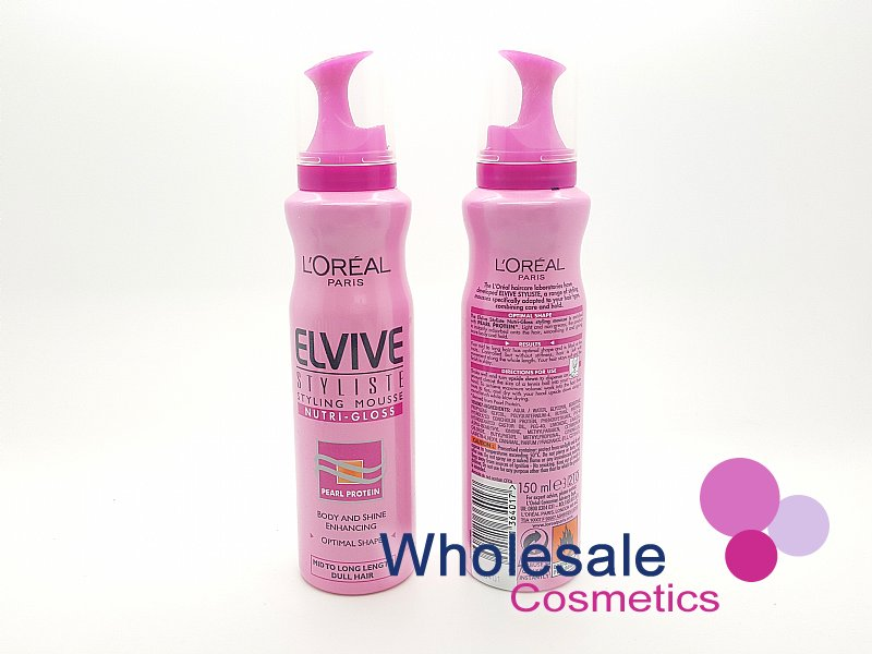 6 x L'Oreal Elvive Stylliste Styling Mousse Nutri-Gloss 150ml