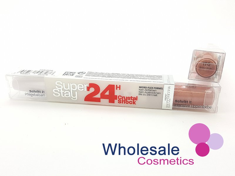 24 x Maybelline Superstay 24HR Lip Color & Balm - 170 Amber Allure