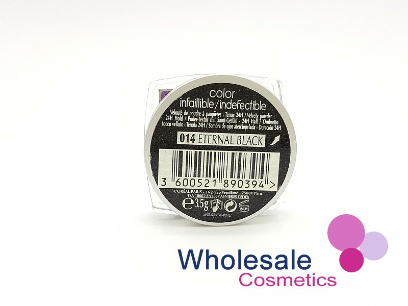 24 x L'Oreal Color Infallible Eyes 24Hr Powder Eyeshadow - 014 Eternal Black