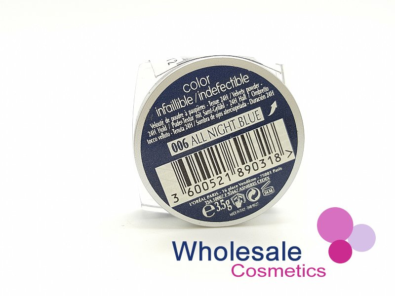 24 x L'Oreal Color Infallible Eyes 24Hr Powder Eyeshadow - 006 All Night Blue