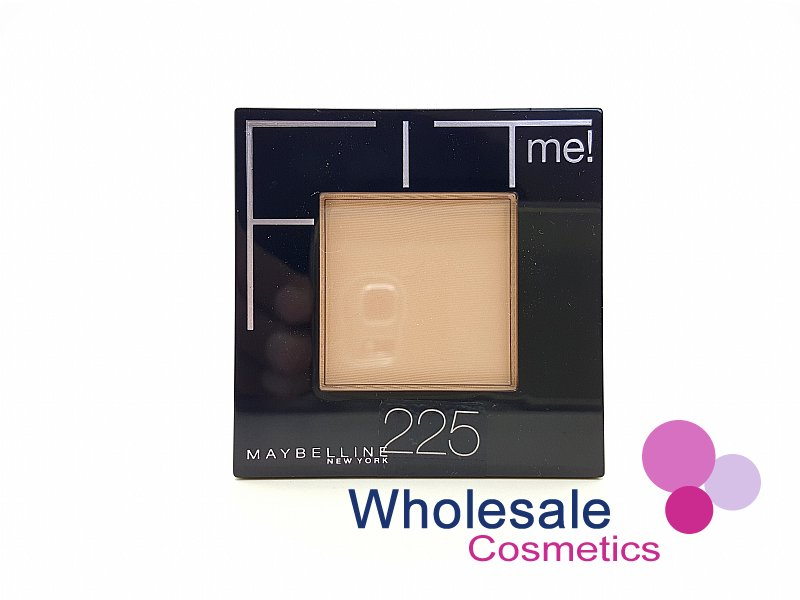 12 x Maybelline Fit Me Powder Flawless Foundation - 225 Medium Buff