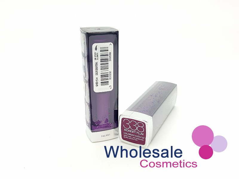 24 x Maybelline Colour Sensational Lipstick - 338 Midnight Plum