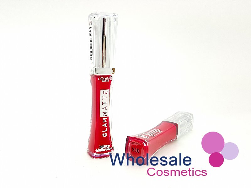 12 x L'Oreal Glam Intense Matte Lip Gloss - 510 Cherry Crop