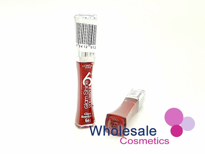 12 x L'Oreal Glam Shine Lip Gloss 6hrs Brilliance - 506 Endless Caramine
