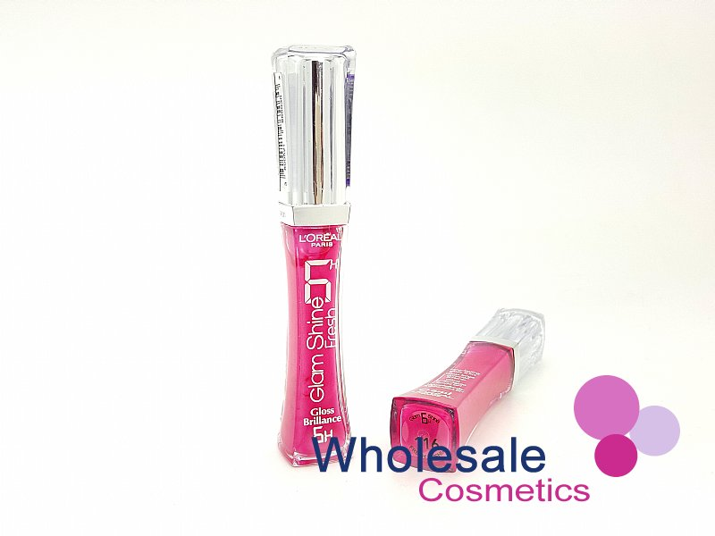 12 x L'Oreal Glam Shine Lip Gloss 6hrs Brilliance - 116 Fresh Fushia