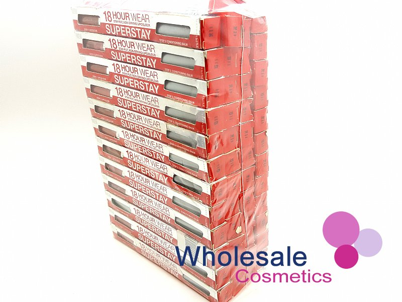 50 x Maybelline Superstay 18HR Double Ended Lip Color & Balm - CLEARANCE