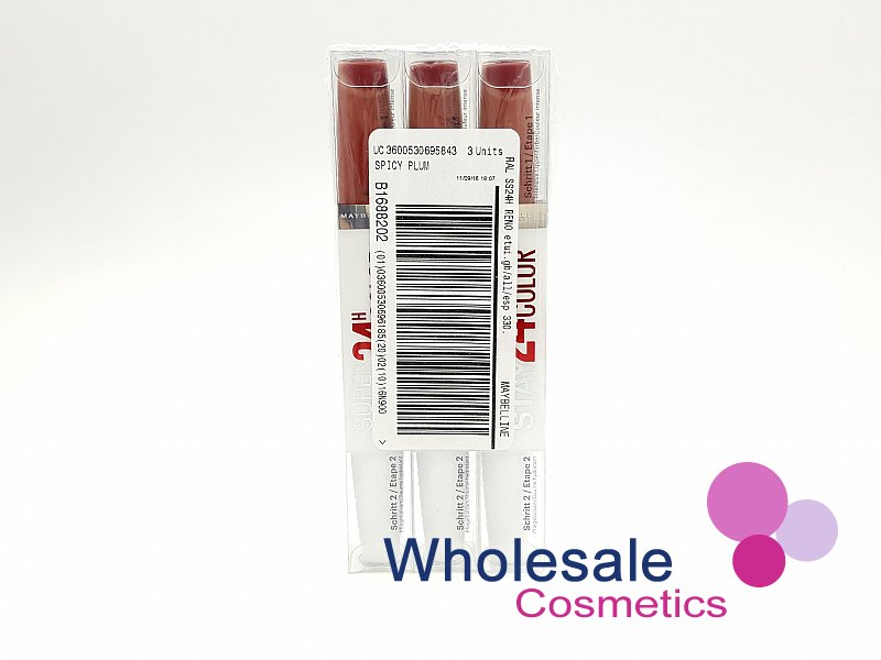 24 x Maybelline Superstay 24HR Lip Color & Balm - 330 Spicy Plum