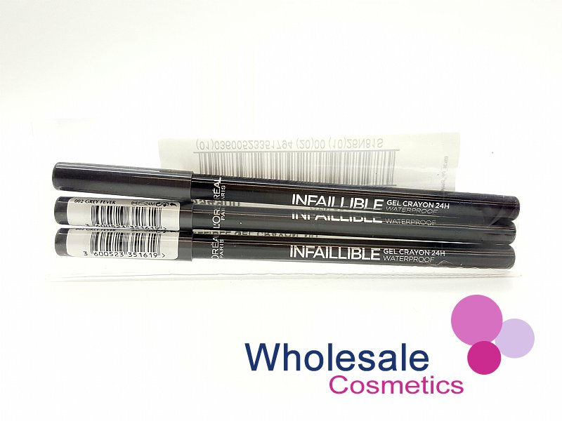 24 x L'Oreal Infaillible 24HR Waterproof Gel Crayon - 02 Grey Fever