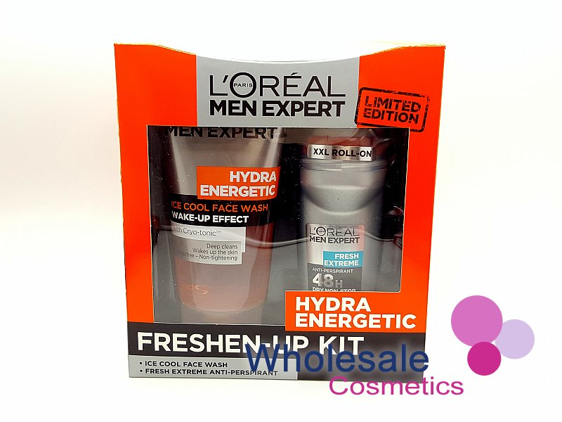 6 x L'Oreal Men Hydra Energetic Expert Freshen-Up Kit