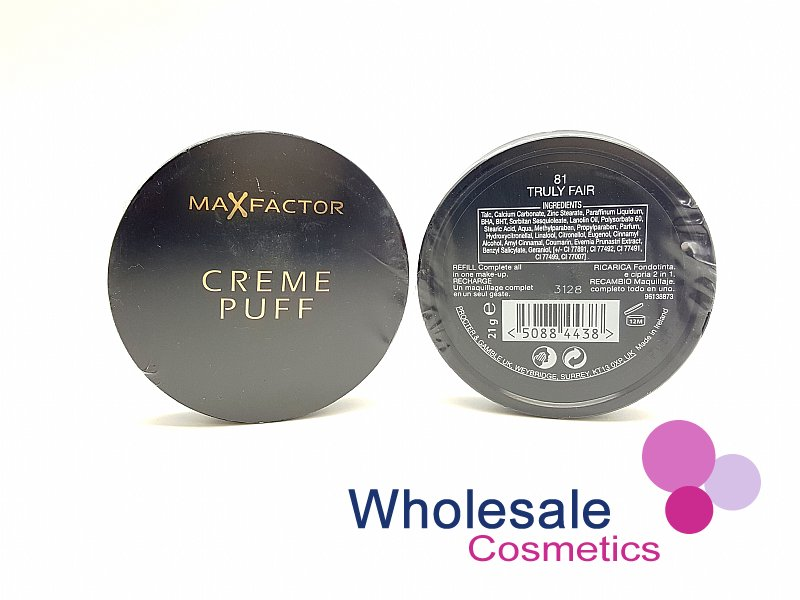 24 x Max Factor Creme Puff Powder Compact (Blue Pack) - No.81 Truly Fair