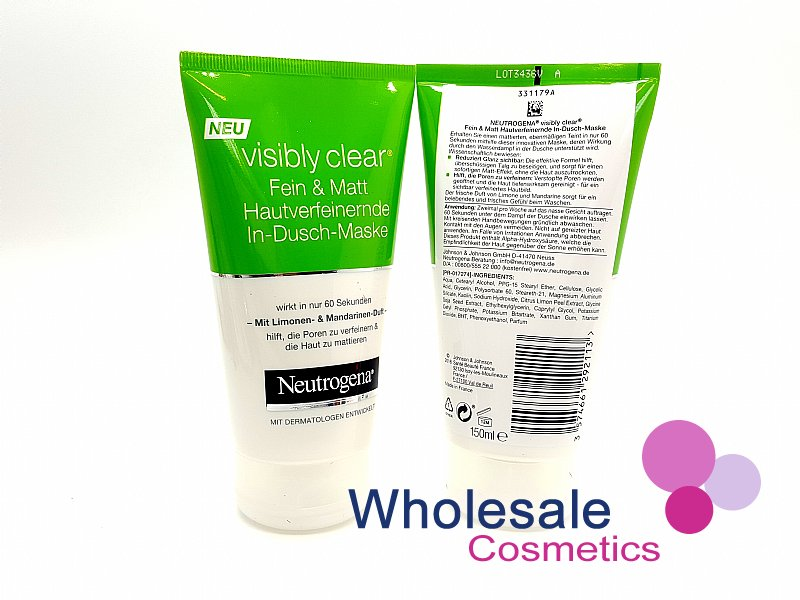 6 x Neutrogena Visibly Clear Pore & Shine In-Shower-Mask 150ml - EU Stock
