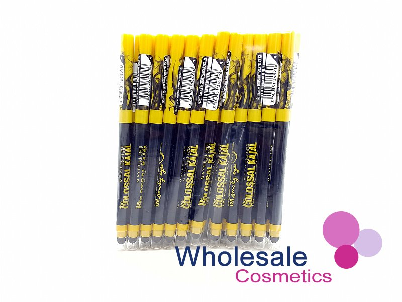 24 x Maybelline The Colossal Kajal 12Hr Smoky Eyes Eye Pencil