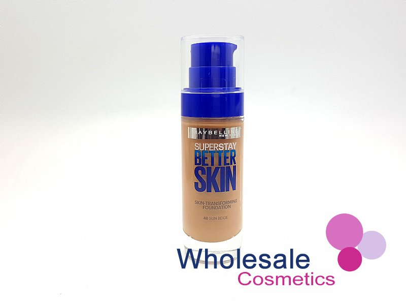 12 x Maybelline Superstay BetterSkin Skin-Transforming Foundation - 48 Sun Beige