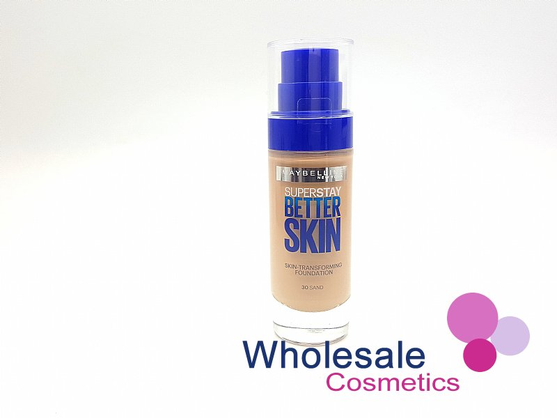 12 x Maybelline Superstay BetterSkin Skin-Transforming Foundation - 30 Sand