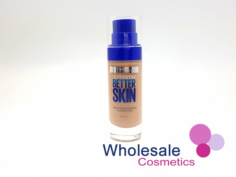 12 x Maybelline Superstay BetterSkin Skin-Transforming Foundation - 10 Ivory