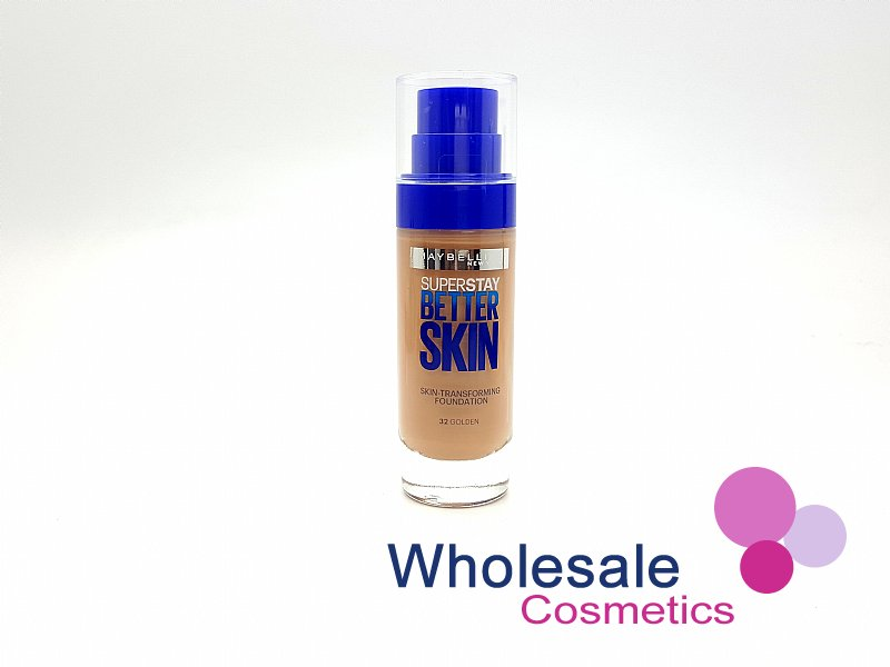 12 x Maybelline Superstay BetterSkin Skin-Transforming Foundation - 32 Golden