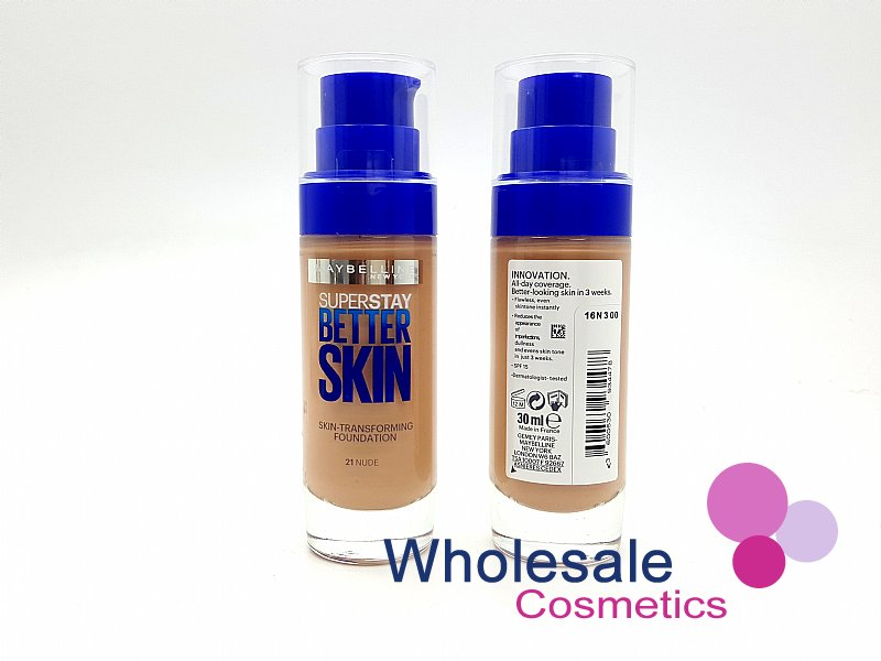 12 x Maybelline Superstay BetterSkin Skin-Transforming Foundation - 21 Nude