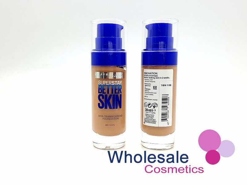 12 x Maybelline Superstay BetterSkin Skin-Transforming Foundation - 40 Fawn