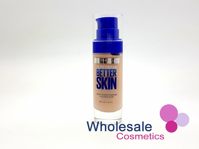 12 x Maybelline Superstay BetterSkin Skin-Transforming Foundation - 05 Light Beige