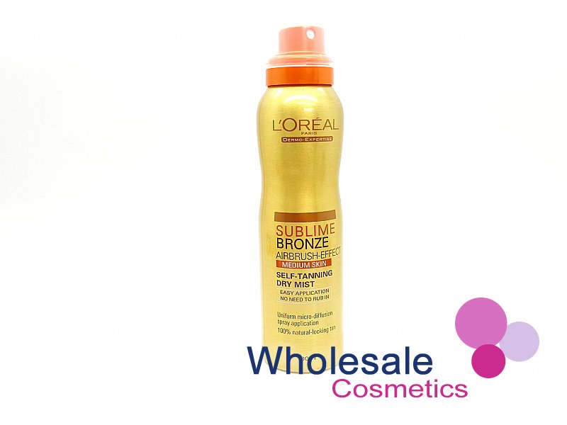 6 x L'Oreal Sublime Bronze Self-Tanning Dry Mist - Medium Skin