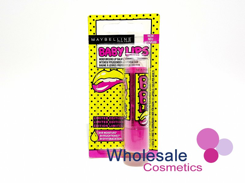 24 x Maybelline Baby Lips Lip Balm Limited Edition - 20 Bubblegum Pop