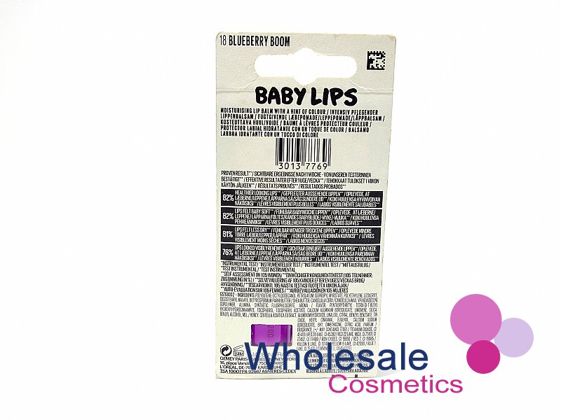 24 x Maybelline Baby Lips Lip Balm Limited Edition - 18 Blueberry Boom