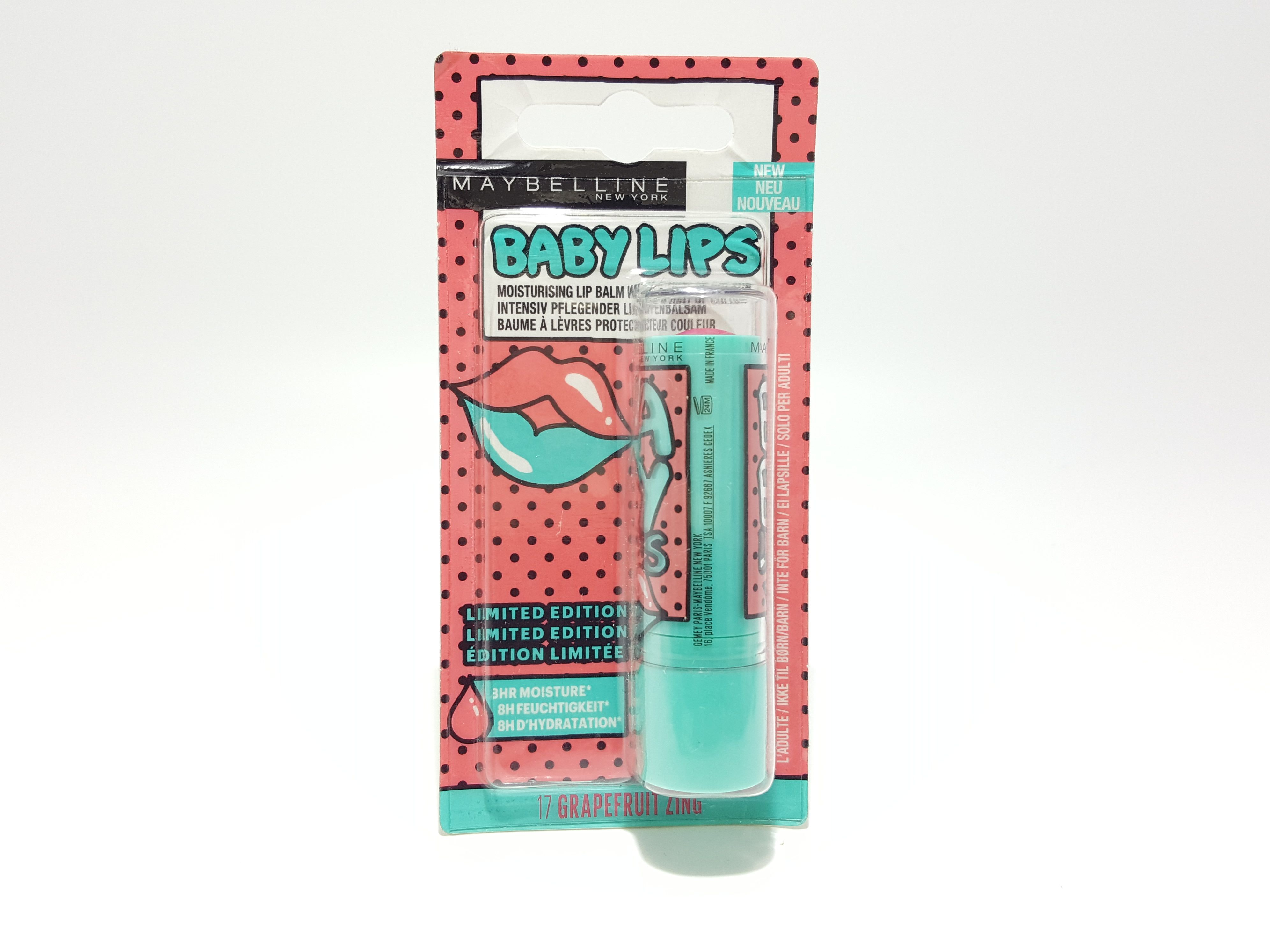 24 x Maybelline Baby Lips Lip Balm Limited Edition - 17 Grapefruit Zing